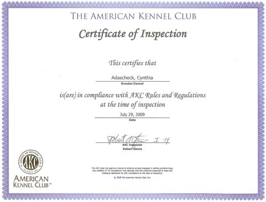 AKC Inspections